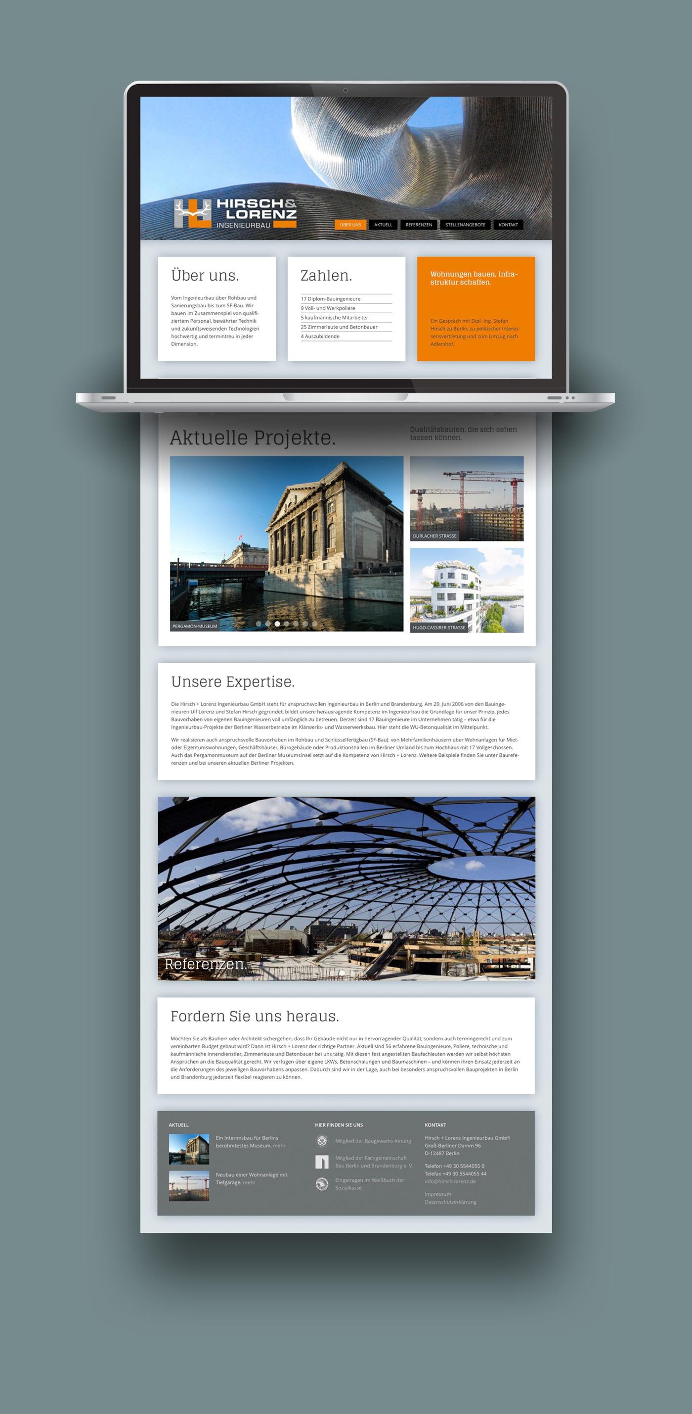 Bauunternehmen Berlin Brandenburg grafikdesign und webdesign bauunternehmen hirsch lorenz berlin